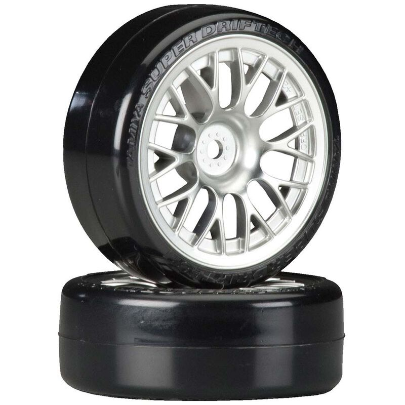 Metal Plated Mesh Wheels with Cmntd Sup Driftech Tires, 24mm (2)
