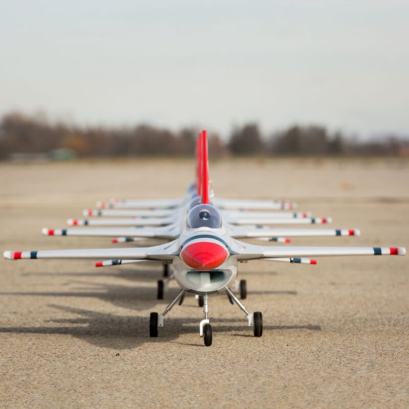 F-16 Thunderbirds 70mm EDF BNF Basic with AS3X and SAFE Select, 815mm