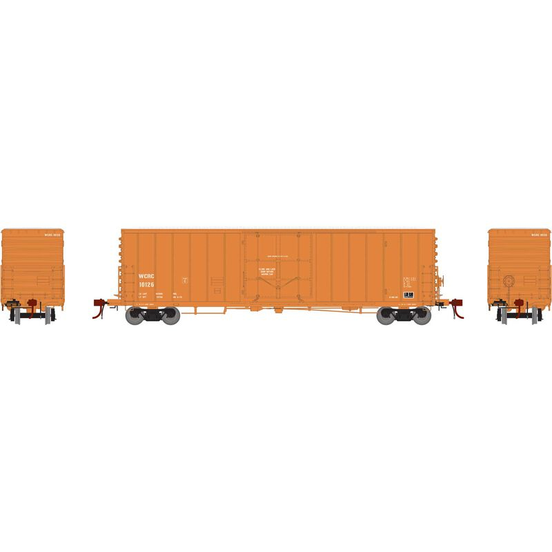 """HO 50' PC&F Riveted Box with 10' 6"""" Door WCRC #10126"""