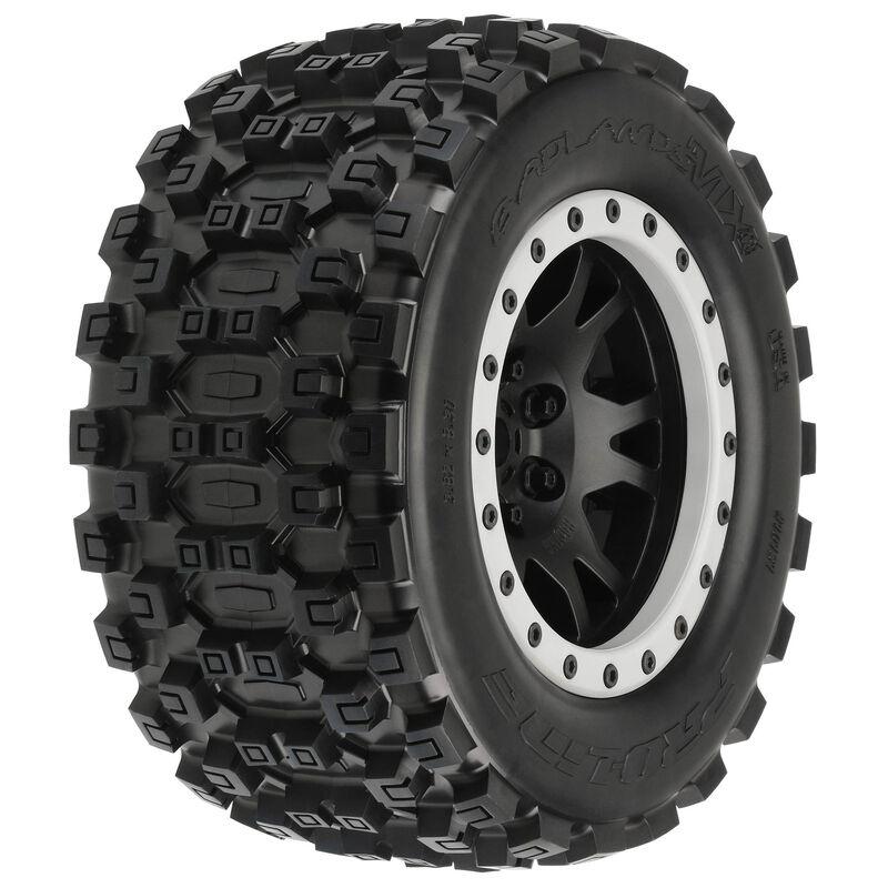 1/5 Badlands MX43 Pro-Loc F/R X-MAXX MTD 24mm Blk/Gry Impulse (2)