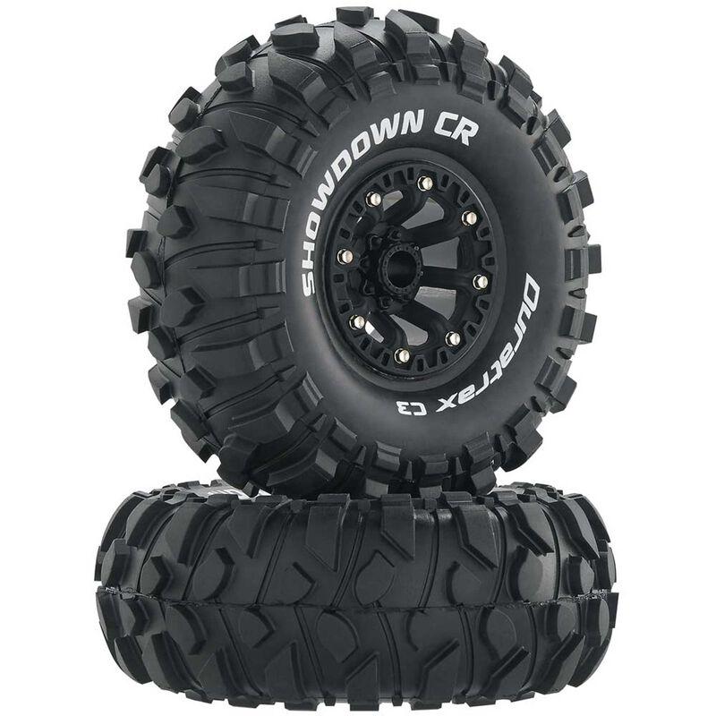 "Showdown CR C3 Mounted 2.2"" Crawler Tires, Black (2)"