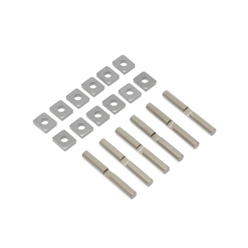 Cross Pins & Support Blocks, Aluminum: 5T, MINI WRC