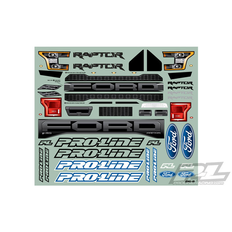 Clear Body, 2017 Ford F150 Raptor True Scale: 1/10 PRO-2