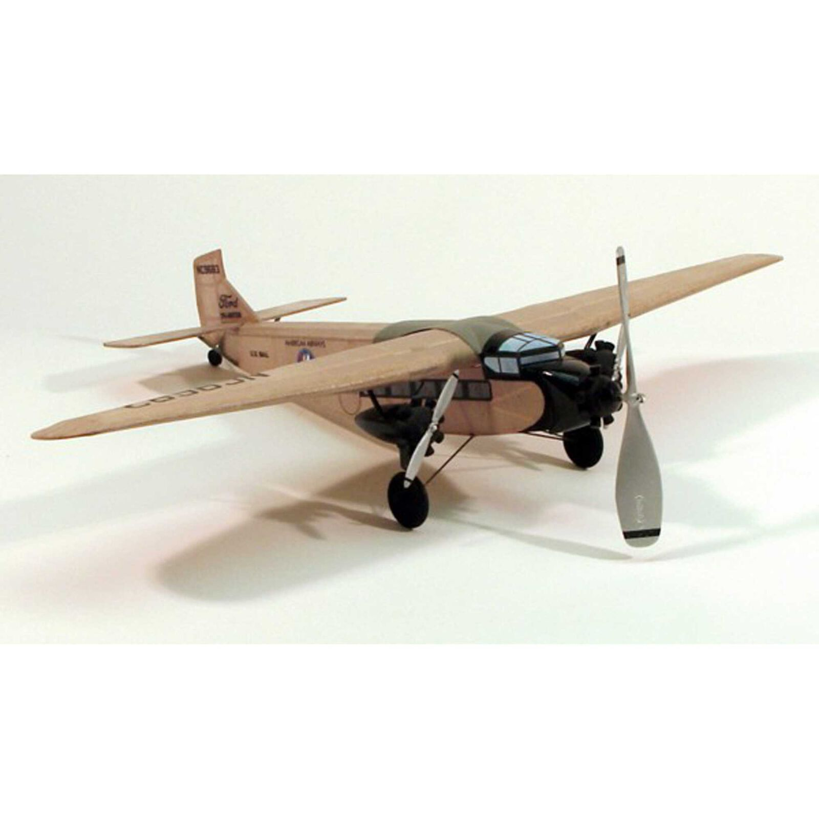 """Ford Tri-Motor Rubber Powered Kit, 17.5"""""""