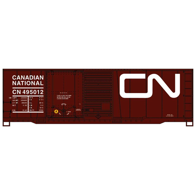 HO 40' Combination Door Steel Boxcar, CN