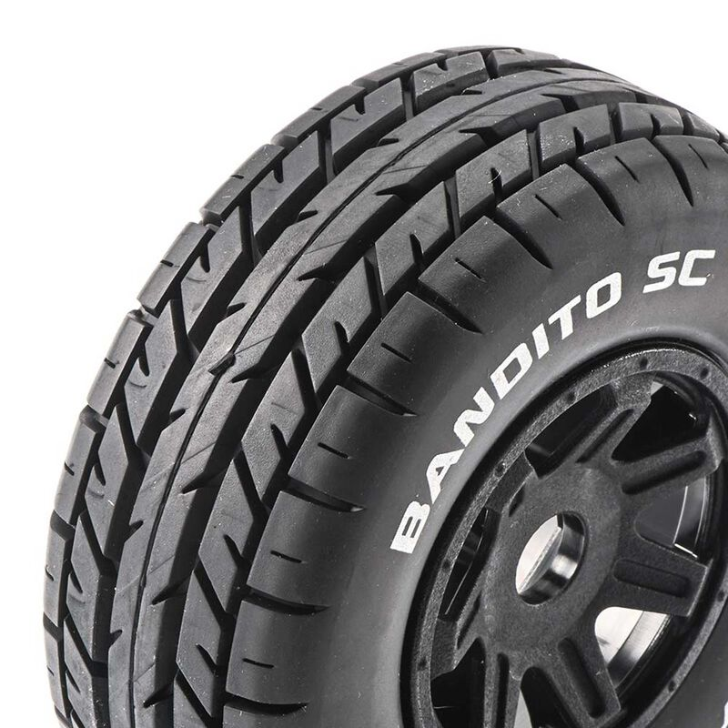 Bandito SC Mounted Soft Tires, Black 17mm Hex (2)