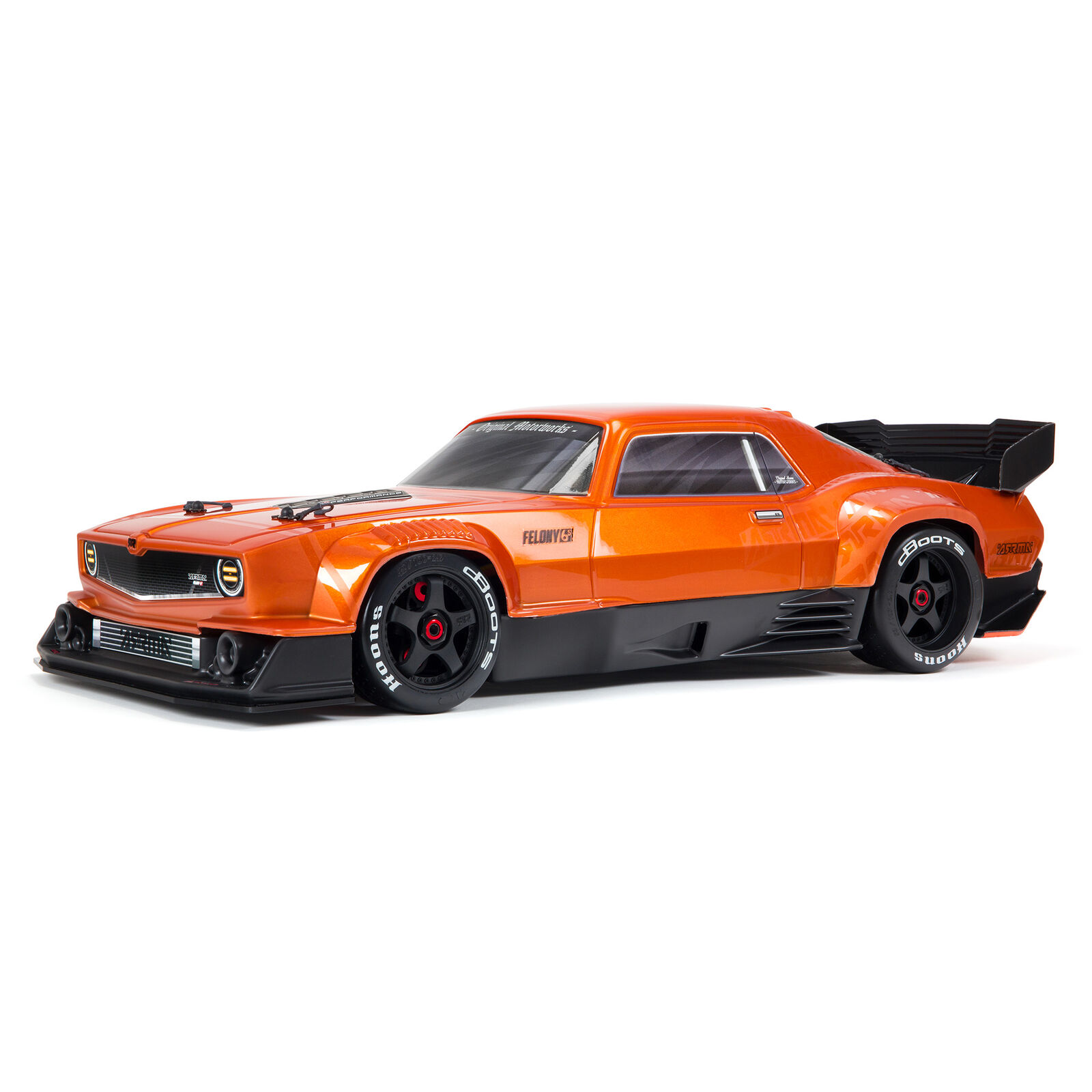 1/7 FELONY 6S BLX Street Bash All-Road Muscle Car RTR, Orange