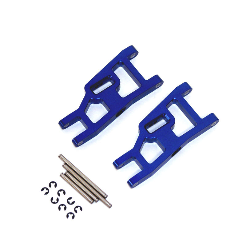 Aluminum Front Suspension Arms, Blue: Stampede, Rustler, Slash