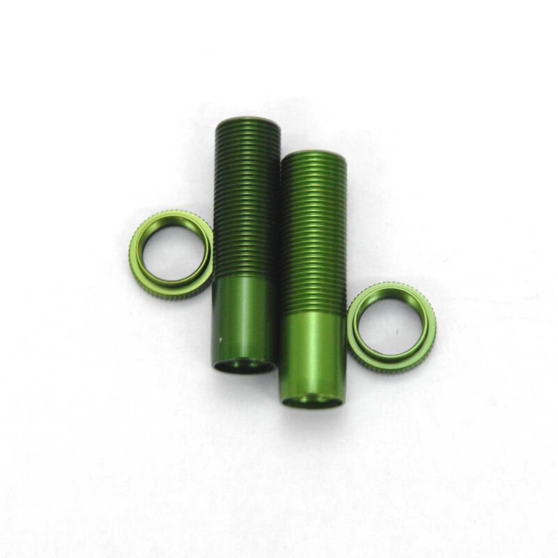 Shock Bodies & Spring Collar with o-ring: Wraith Green
