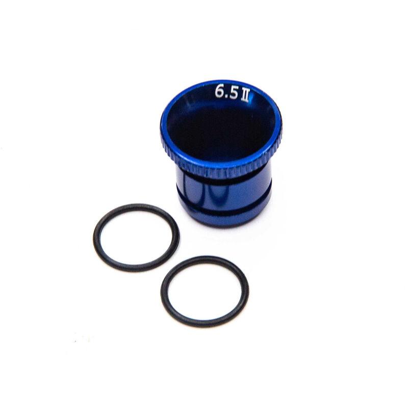 Carburetor Reducer 6.5mm, Blue Aluminum