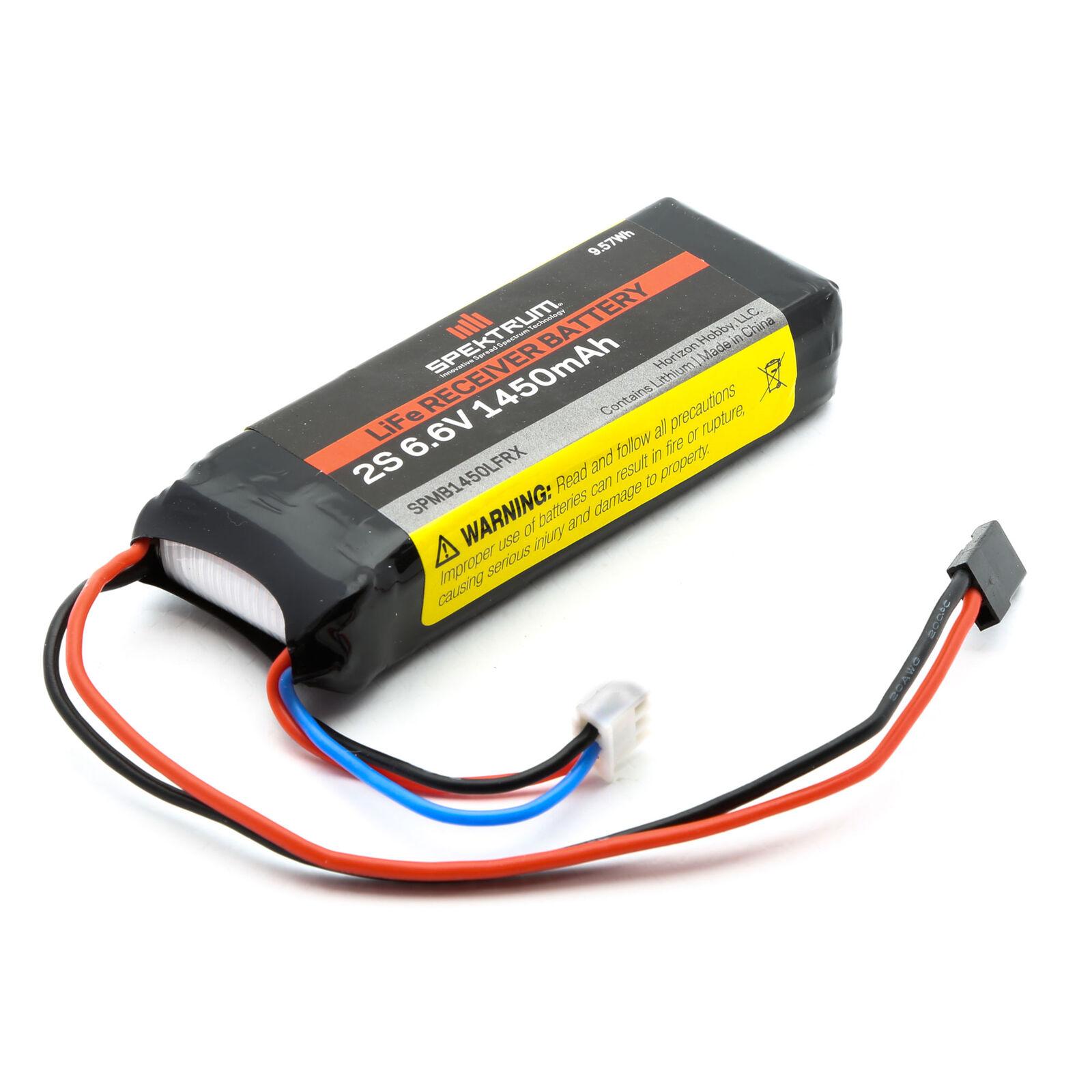 6.6V 1450mAh 2S LiFe Receiver Battery: Universal Receiver