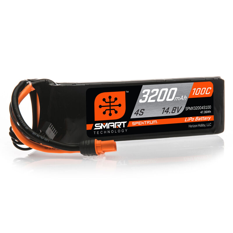 14.8V 3200mAh 4S 100C Smart LiPo Battery: IC3