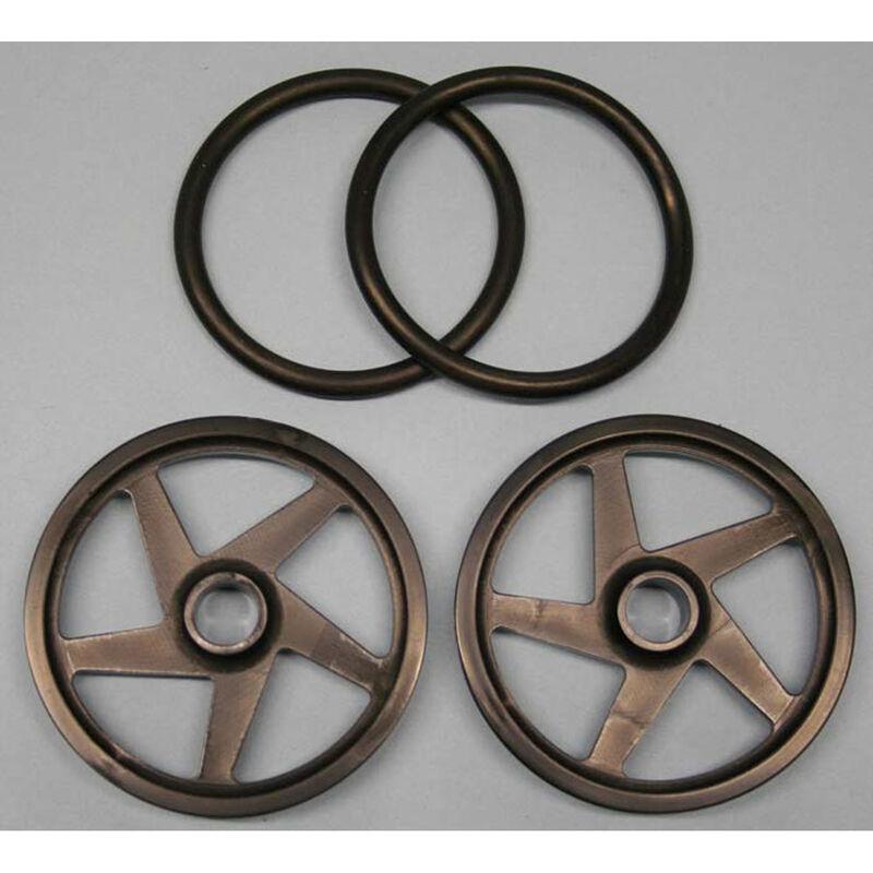 """O-Ring Wheels, 2"""" Black (2)"""