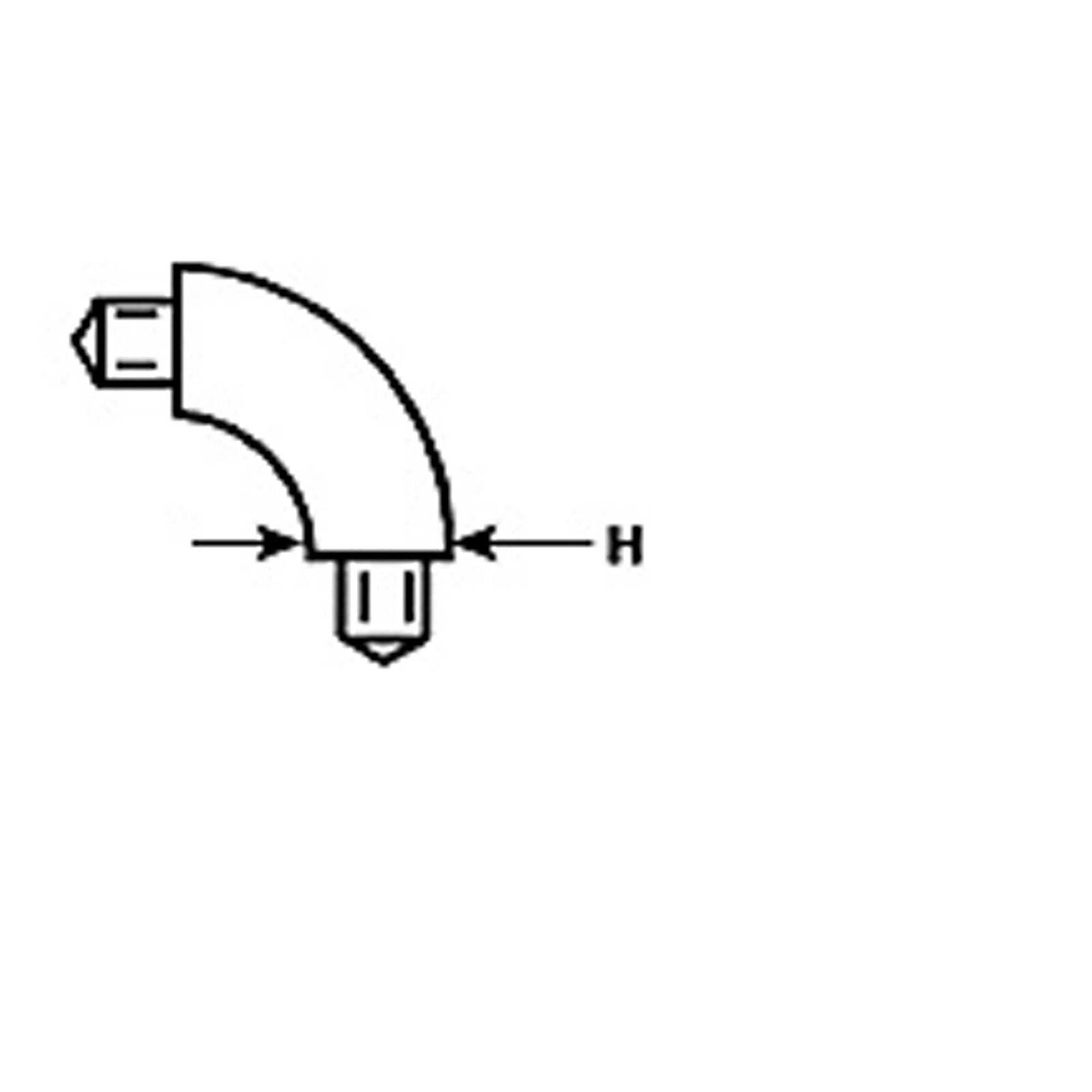E-8 90 Elbow   Butyrate Tubing TB-8 (5)