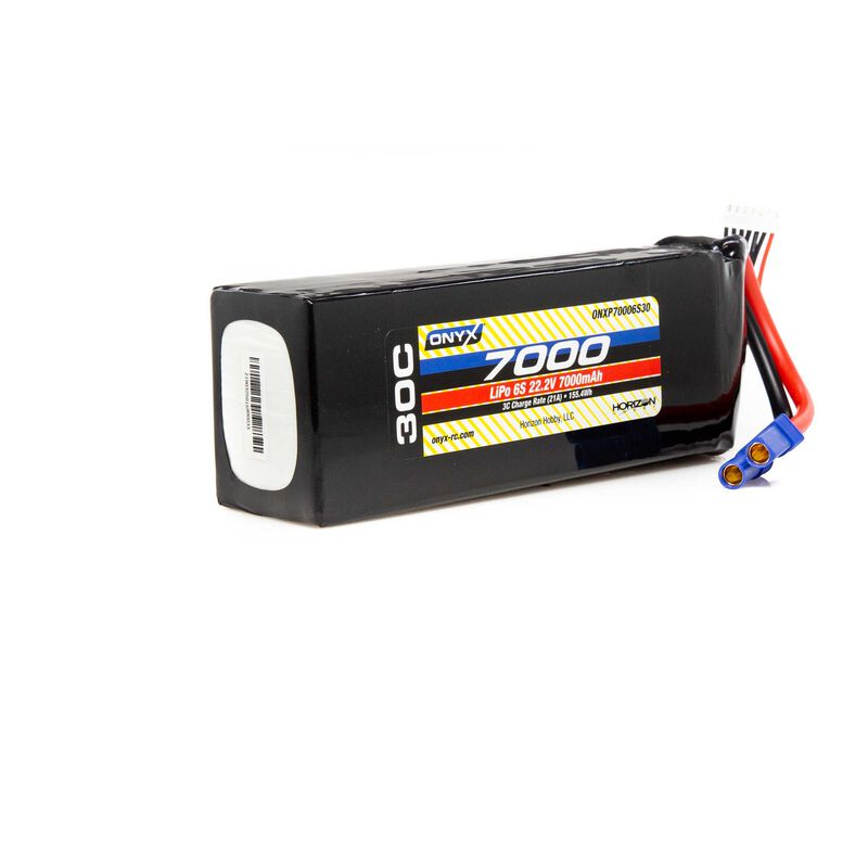 22.2V 7000mAh 6S 30C LiPo Battery: EC5