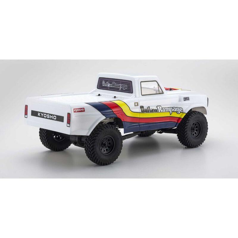 1/10 Outlaw Rampage 2RSA Series 2WD Rock Crawler Brushed RTR, White