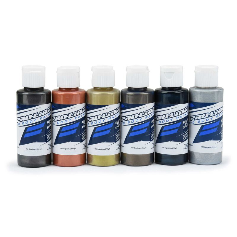 RC Body Paint, Pure Metal Set (6 Pack)