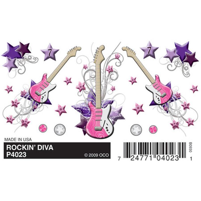 Dry Transfer Decals, Rockin' Diva