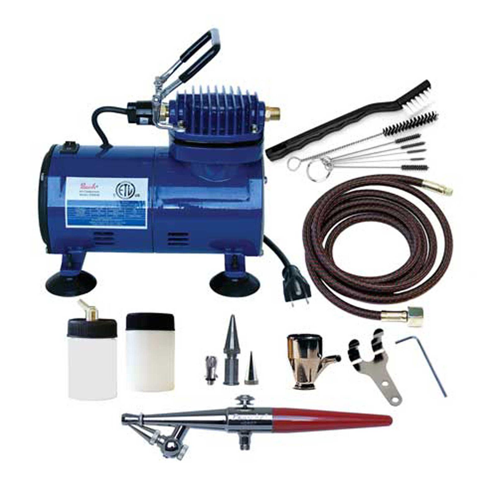 Airbrush & Compressor Package: HSET, D500SR, & AC7
