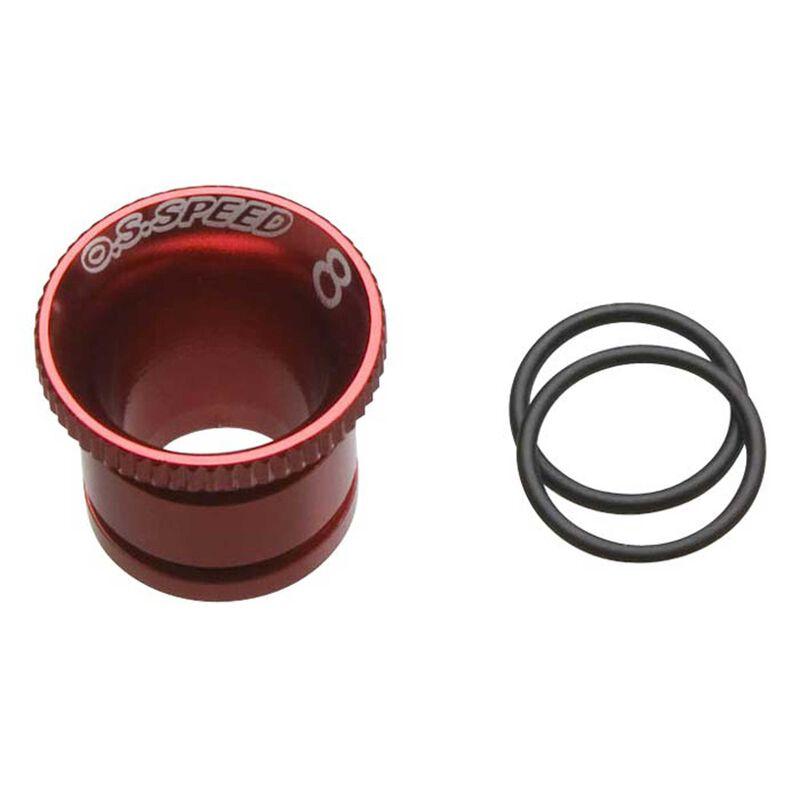 Carburetor Reducer 8mm, Red: Speed 21 V-Spec