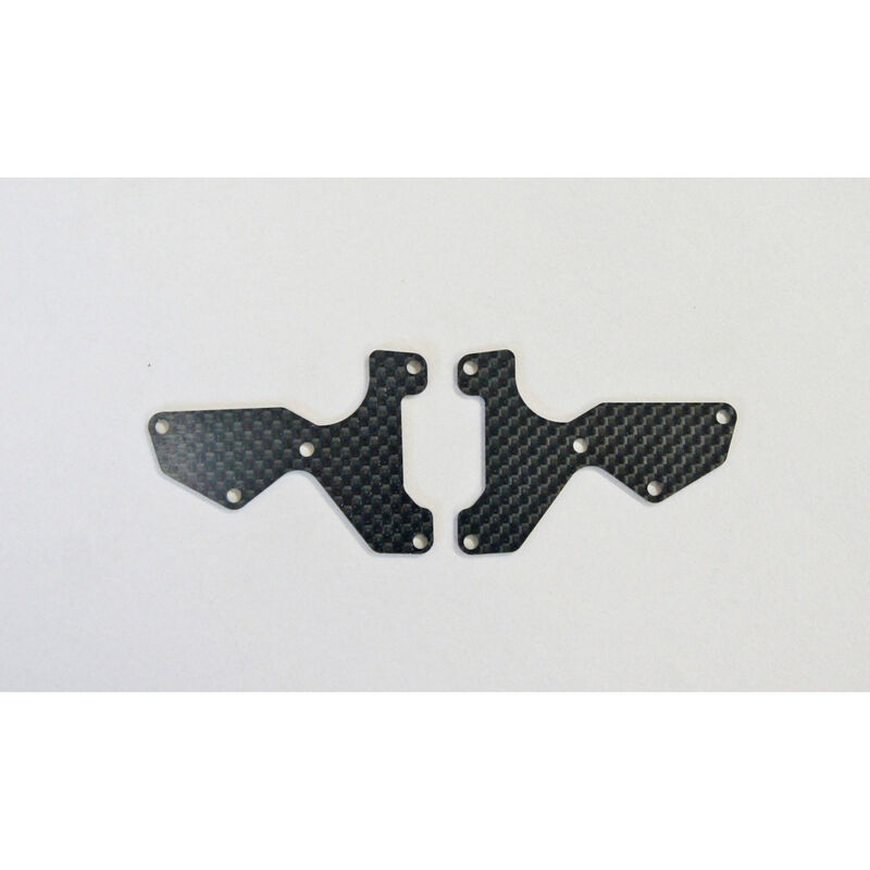 Graphite 1mm Front Lower Suspension Arm Mount Plate (2): X8