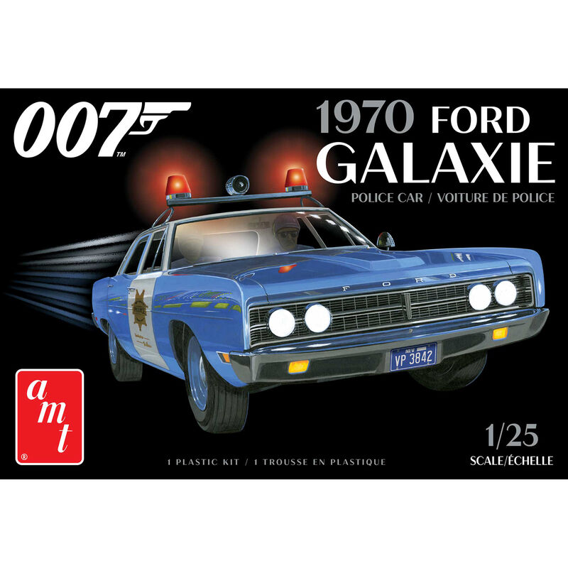 1/25 1970 Ford Galaxie Police Car, James Bond