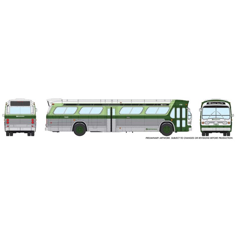 HO 1 87 New Look Bus Deluxe-Chicago CTA #7474