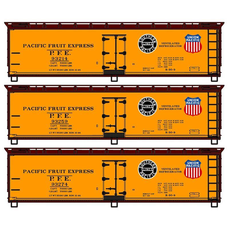 HO 40' Wood Reefer 3-Car Set PFE