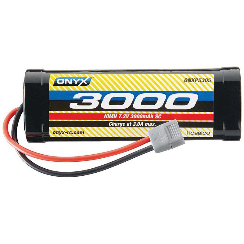 7.2V 3000mAh 6-Cell Sub-C Stick NiMH Battery: Star Plug