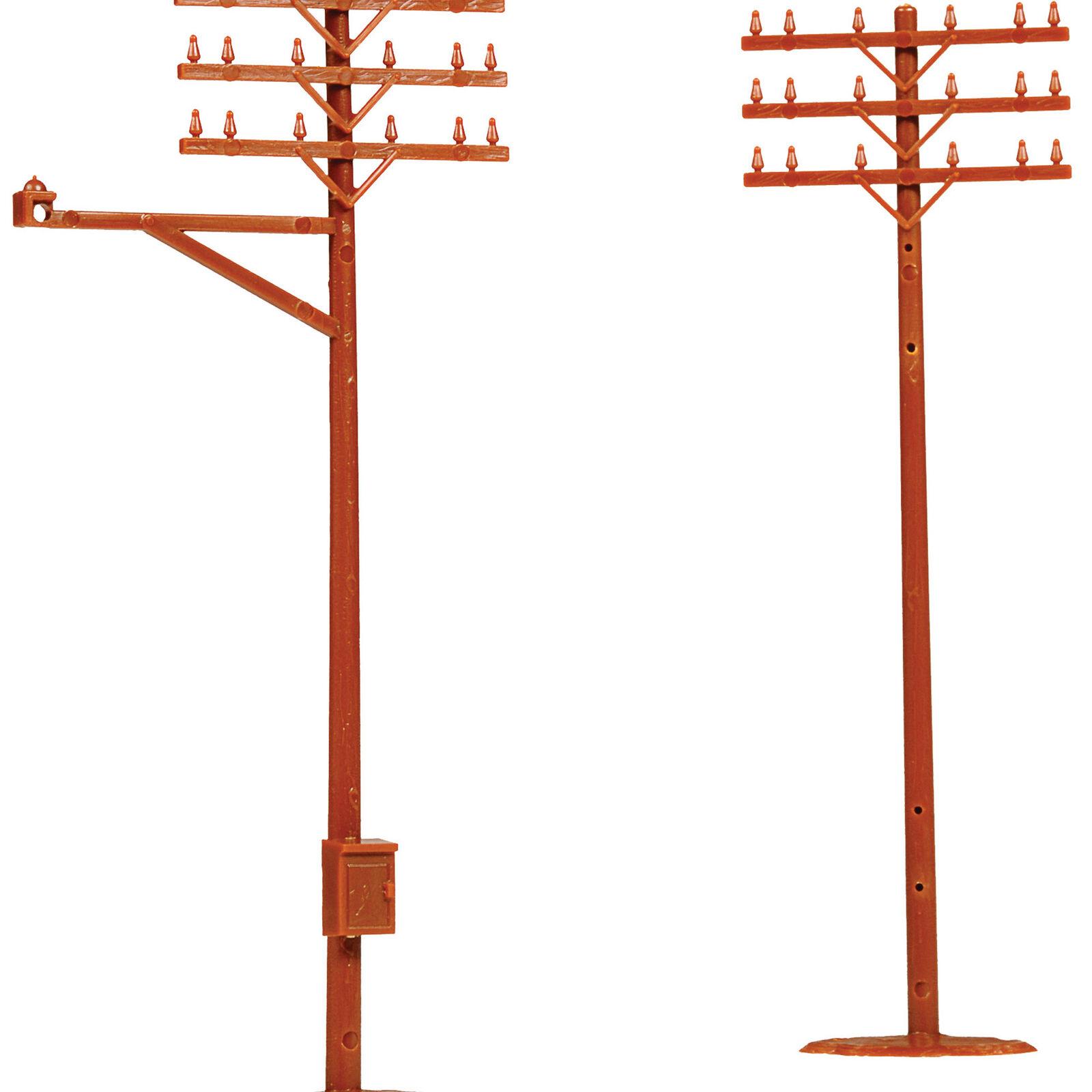HO Telephone Poles (12)