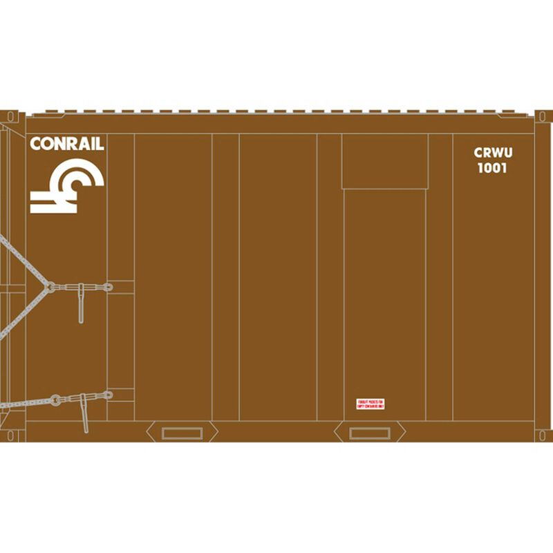 HO Trainman 20' HighCube MSW Container,Undecorated