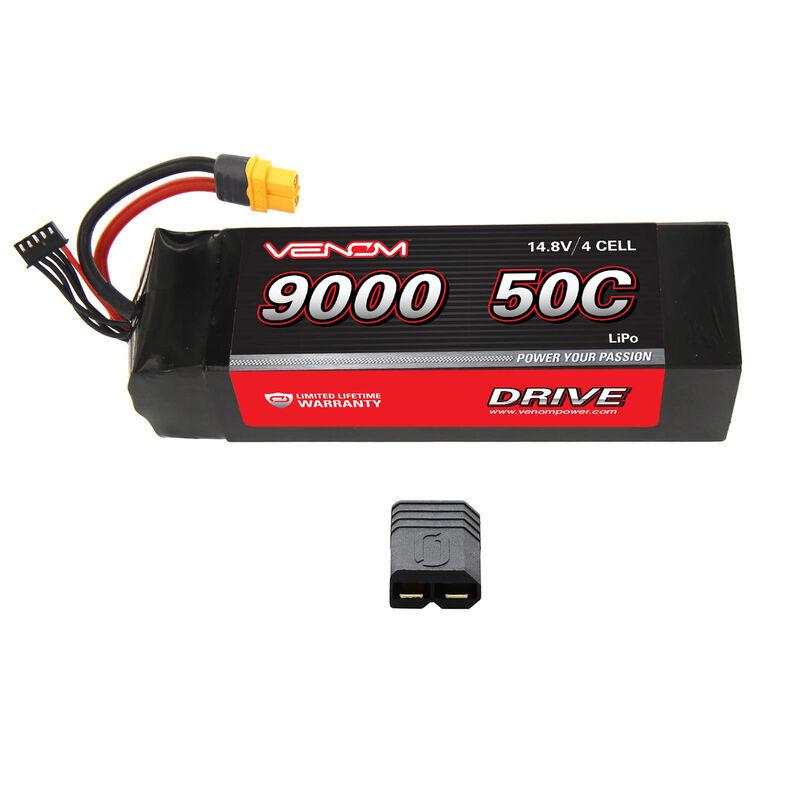 14.8V 9000mAh 4S 50C DRIVE LiPo Battery: UNI 2.0 Plug