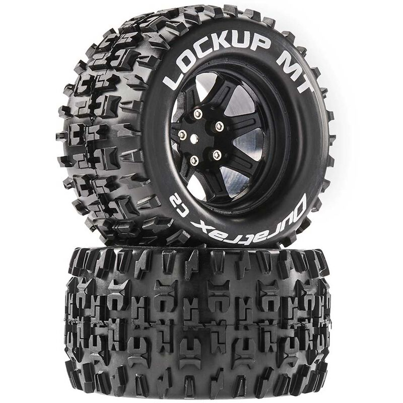 Lockup MT 2.8 Mounted Tires, Black 14mm Hex (2)