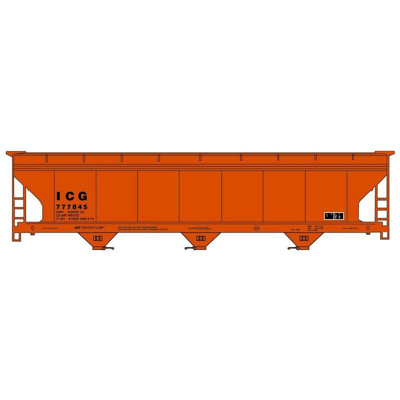 HO Kit 3-Bay Hopper ICG