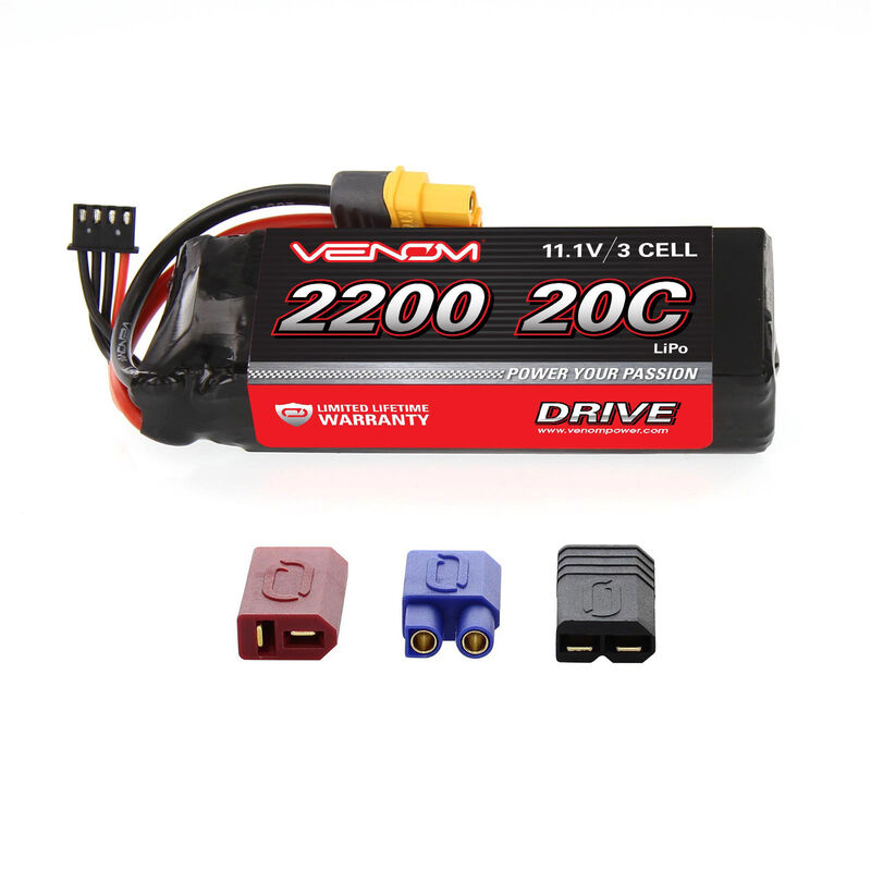 11.1V 2200mAh 3S 20C DRIVE LiPo Battery: UNI 2.0 Plug