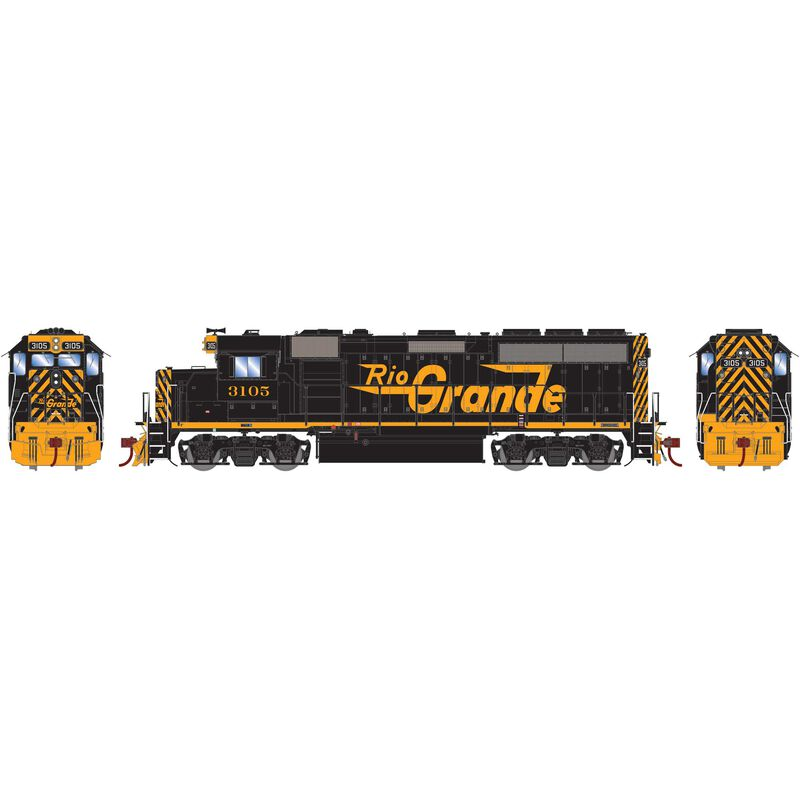 HO GP40-2 with DCC & Sound D&RGW #3105