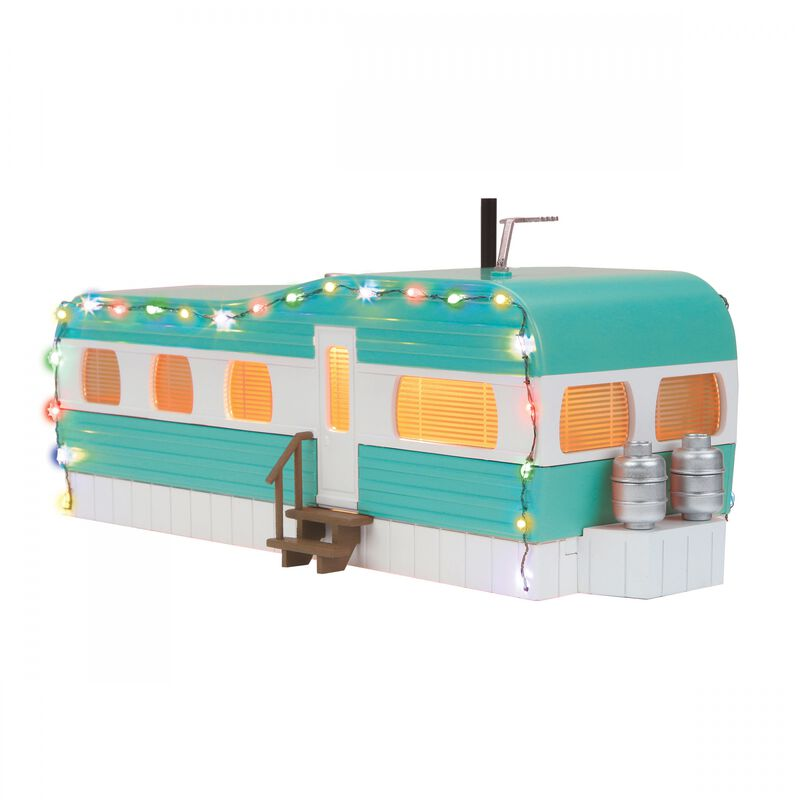 O Stainless Mobile Home with LED Lights Turquoise/White