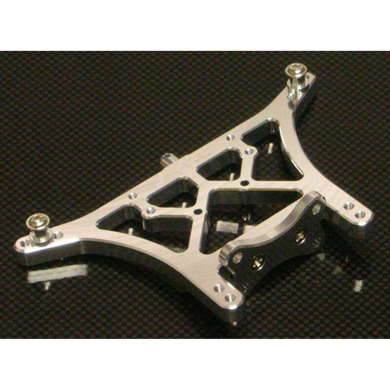 Aluminum Rear Shock Tower, Silver: Slash, Stampede, Rustler