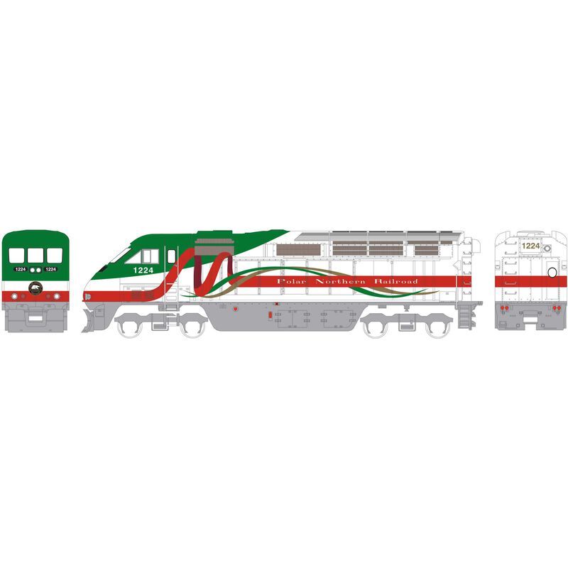 HO RTR F59PHI PNR Christmas #1224