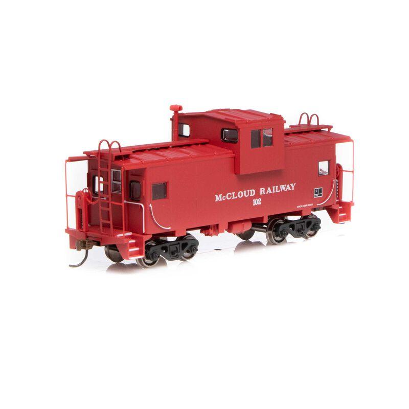 HO Wide Vision Caboose McCloud Railway #102