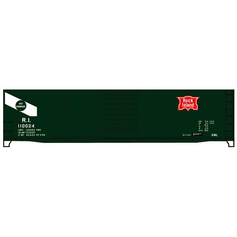 HO Limited Run 50' Steel Boxcar RI #110024