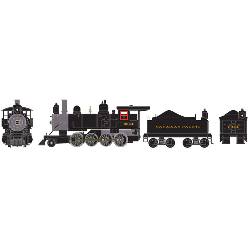 HO RTR Old Time 2-8-0 with DCC & Sound CPR #3244