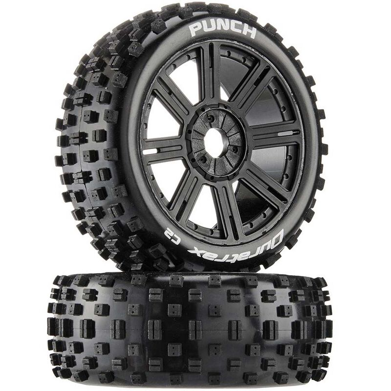Punch C2 Mounted Buggy Spoke Tires, Black (2)