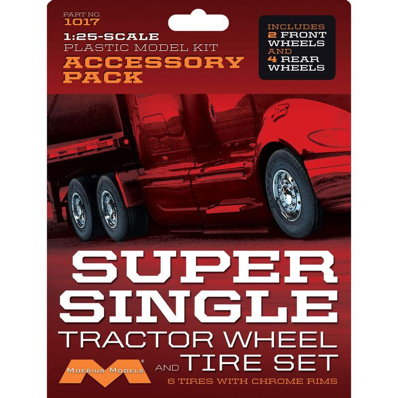 1/25 Super Single Tractor Wheel & Tire Set (6)