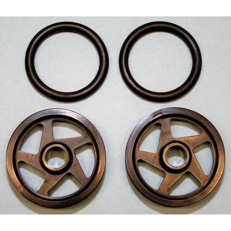"""O-Ring Wheels, 1.5"""" Black (2)"""