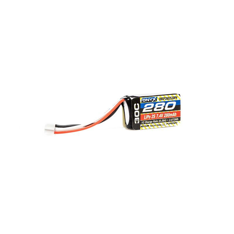 7.4V 280mAh 2S 30C LiPo Battery: PH