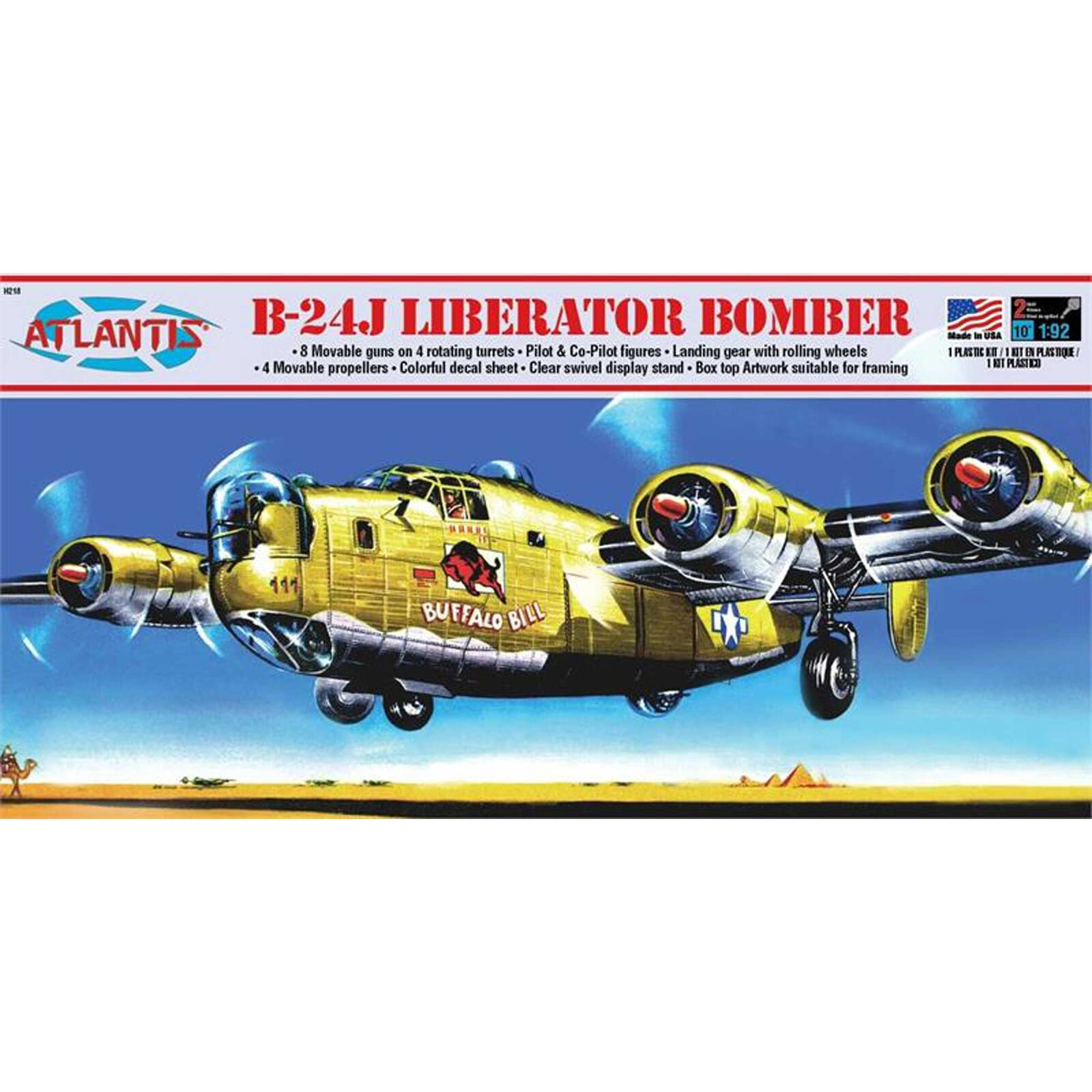 B-24J Liberator Bomber Buffalo Bill 1/92 Model Kit
