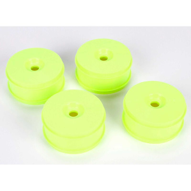1/8 Front/Rear Buggy 3.3 Wheels, 17mm Hex, Yellow (4): 8IGHT 3.0