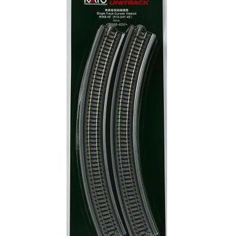 "N 348mm 13-3/4"" Radius 45-Degree Viaduct (2)"