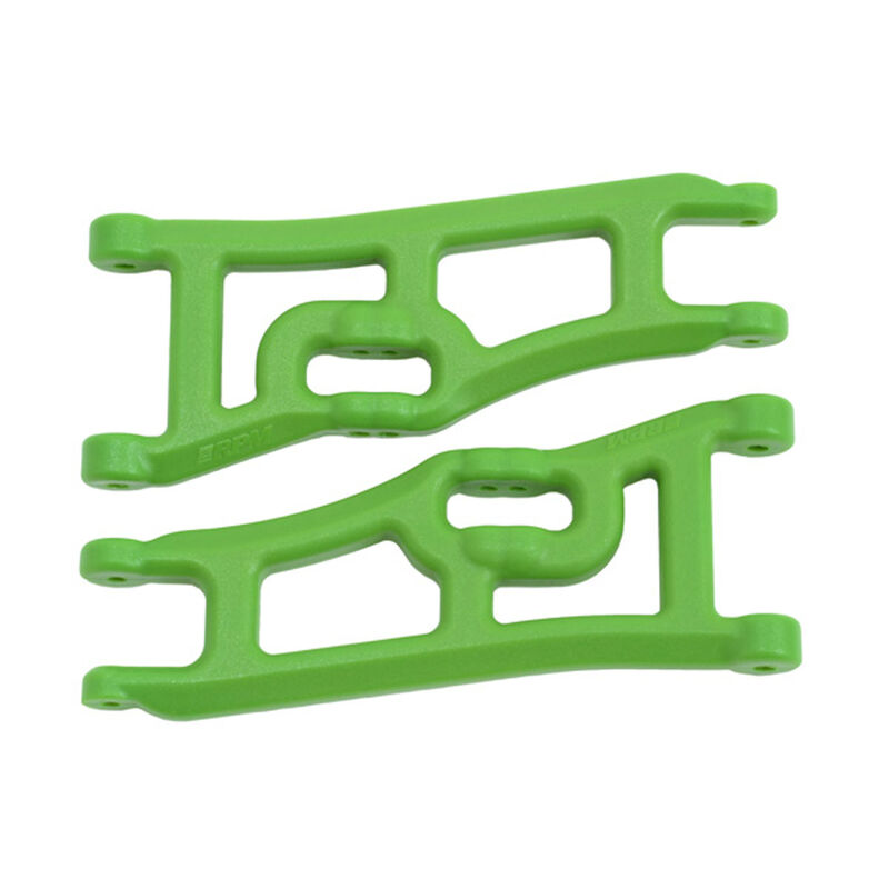 Wide Front A-Arms, Green: Rustler, Stampede 2WD